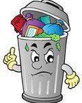 poubelle débordante